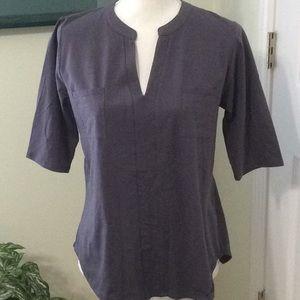 🦋 Dee Elly gray cotton spandex blouse,size Medium